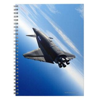 Futuristic Space Shuttle Notebooks