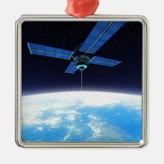 Futuristic Space Station Christmas Ornament