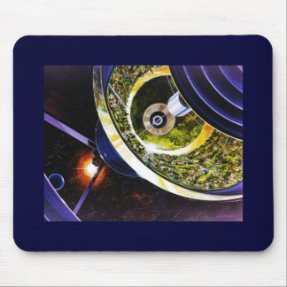 Futuristic Space Station Cutaway Mouse Pad