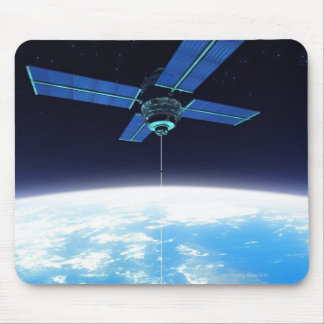 Futuristic Space Station Mouse Pads