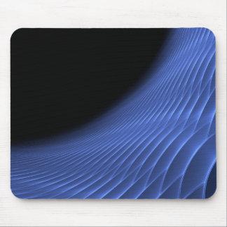 Futuristic Spiral Tunnel in Dark Blue Mousepads