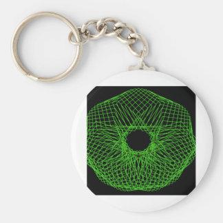Futuristic spirograph key chain