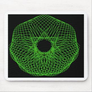 Futuristic spirograph mouse pads