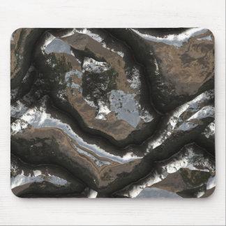 Futuristic Stone Patterns 2 Mouse Pad