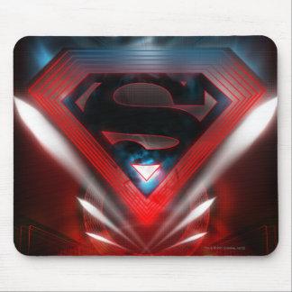 Futuristic Superman Logo Mouse Pad