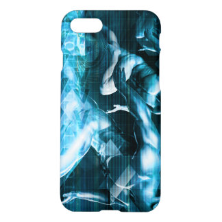 Futuristic Technology Background and Visual Data iPhone 7 Case