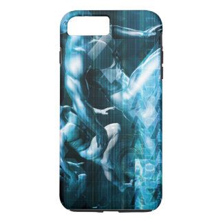Futuristic Technology Background and Visual Data iPhone 7 Plus Case