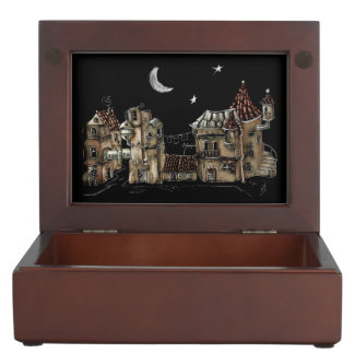 Futuristic town center keepsake box