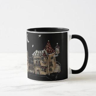 Futuristic town center mug