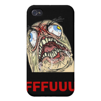 FUUUU Internet Meme Rage Face Iphone Cases iPhone 4/4S Cover