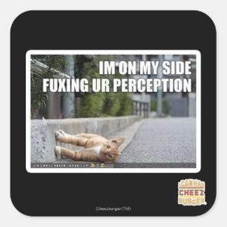 Fuxing Ur Perception Square Sticker