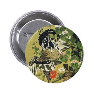 Fuyo soukeizu by Ito Jakuchu 6 Cm Round Badge