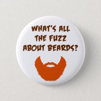 Fuzz About Beards 6 Cm Round Badge