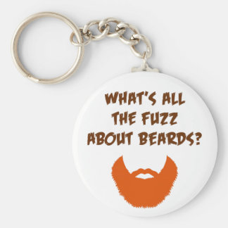 Fuzz About Beards Basic Round Button Key Ring