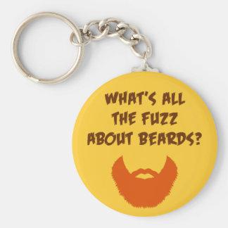 Fuzz About Beards Key Ring