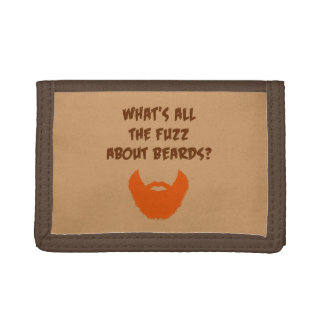 Fuzz About Beards Trifold Wallet