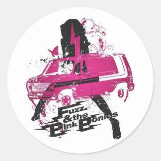 Fuzz & Pink Ponies Sticker
