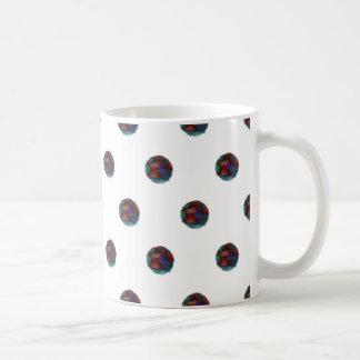 Fuzzy Blue Dots Mug