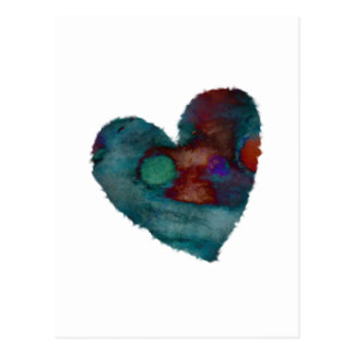 Fuzzy Blue Heart Postcard