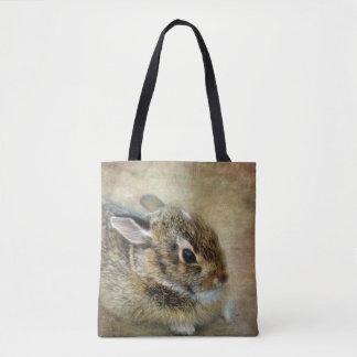 Fuzzy Bunny Tote Bag