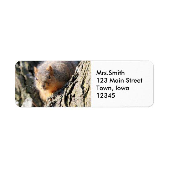 Fuzzy butt return address label