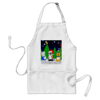 'Fuzzy Carolers' Adult Apron