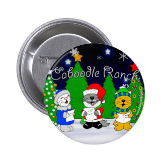 'Fuzzy Carolers' Pinback Buttons