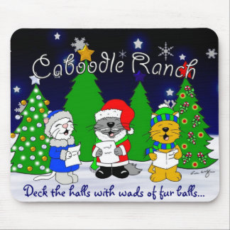 'Fuzzy Carolers' Mousepads