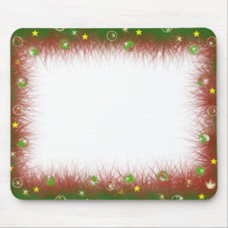 Fuzzy Christmas Border Mouse Mat