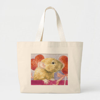 fuzzy dumbo baby large tote bag