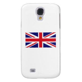 Fuzzy Edge Painted Union Jack Flag HTC Vivid Cases