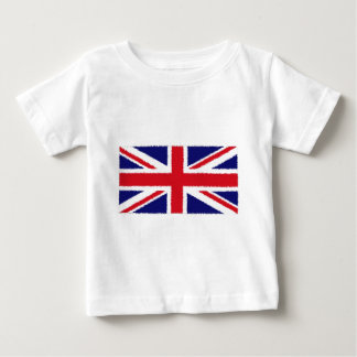 Fuzzy Edge Painted United Kingdom Union Jack Flag Baby T-Shirt