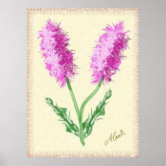 Fuzzy Flowers Print
