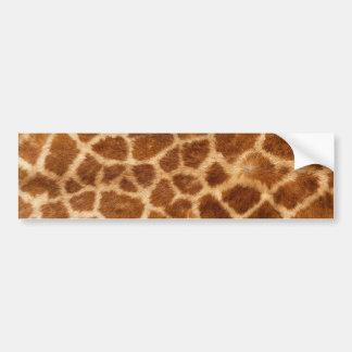 Fuzzy Giraffe Fur Pattern Bumper Sticker