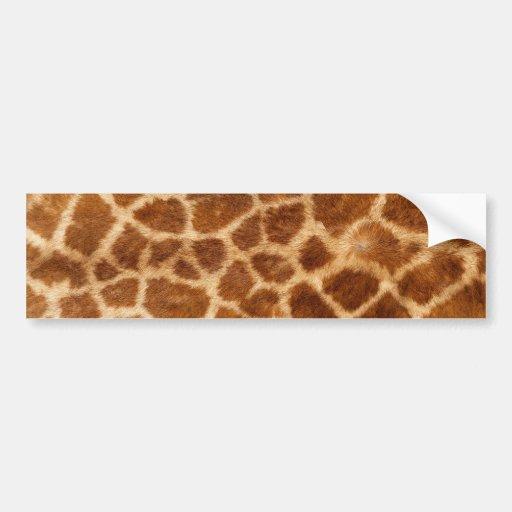 Fuzzy Giraffe Fur Pattern Bumper Stickers