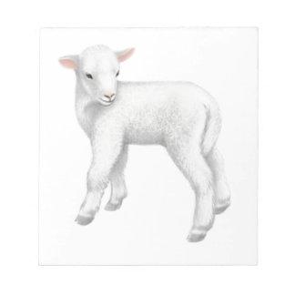 Fuzzy Little Lamb Notepad