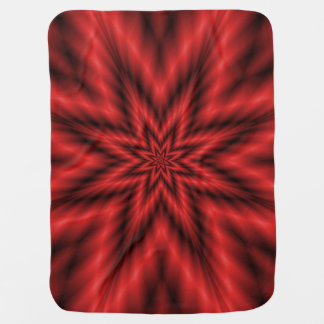 Fuzzy Star in Red Baby Blanket