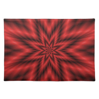 Fuzzy Star in Red Placemat