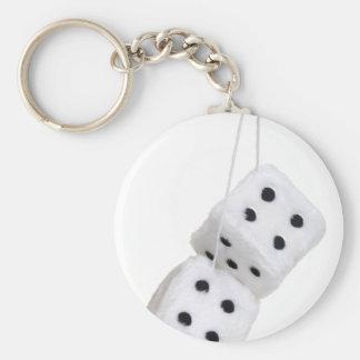 FuzzyDice091209 Basic Round Button Key Ring