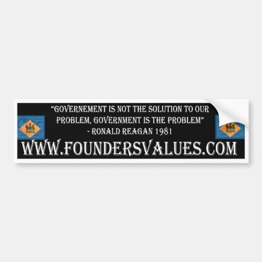 FV Government Solution Bumper Sticker