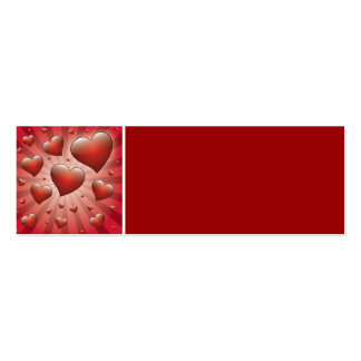 FVHWRV  REDS RAYS HEARTS LOVE FRIENDSHIP FLIRTING BUSINESS CARDS
