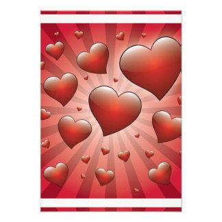 FVHWRV  REDS RAYS HEARTS LOVE FRIENDSHIP FLIRTING CUSTOM ANNOUNCEMENT