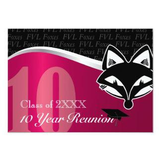 FVL 10 Year Class Reunion 13 Cm X 18 Cm Invitation Card