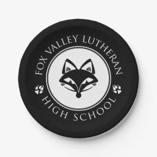 FVL Foxes 7 Inch Paper Plate