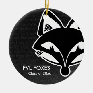 FVL Foxes Class of Round Ceramic Decoration