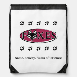FVL Foxes Customizable Cinch Bags