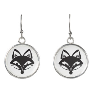 FVL Foxes Fun for Your Ears Earrings