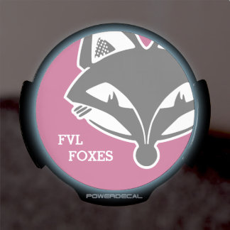 FVL Foxes LED Window Decal