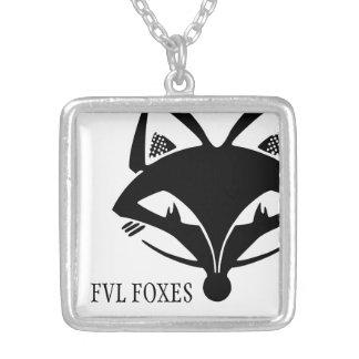 FVL Foxes Logo Square Pendant Necklace