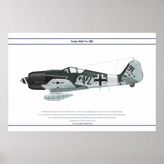 Fw-190 A-8 JG3 1 Poster